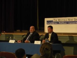 Senator Don Humason and Patrick Leahy in Westfield. (WMassP&I)