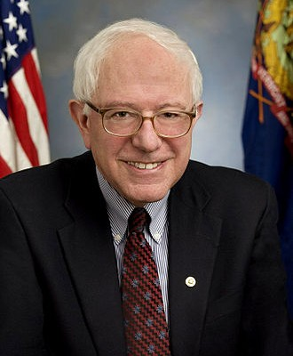 Vermont Senator Bernie Sanders (via wikipedia)