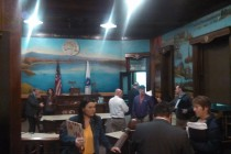 Councilors chat with members of the audience after Monday's meeting. (WMassP&I)