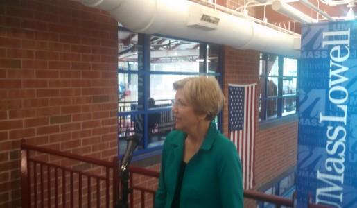 Sen. Warren in Lowell Saturday.