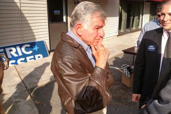 Former Gov. Michael Dukakis in East Longmeadow Sunday. (WMassP&I)
