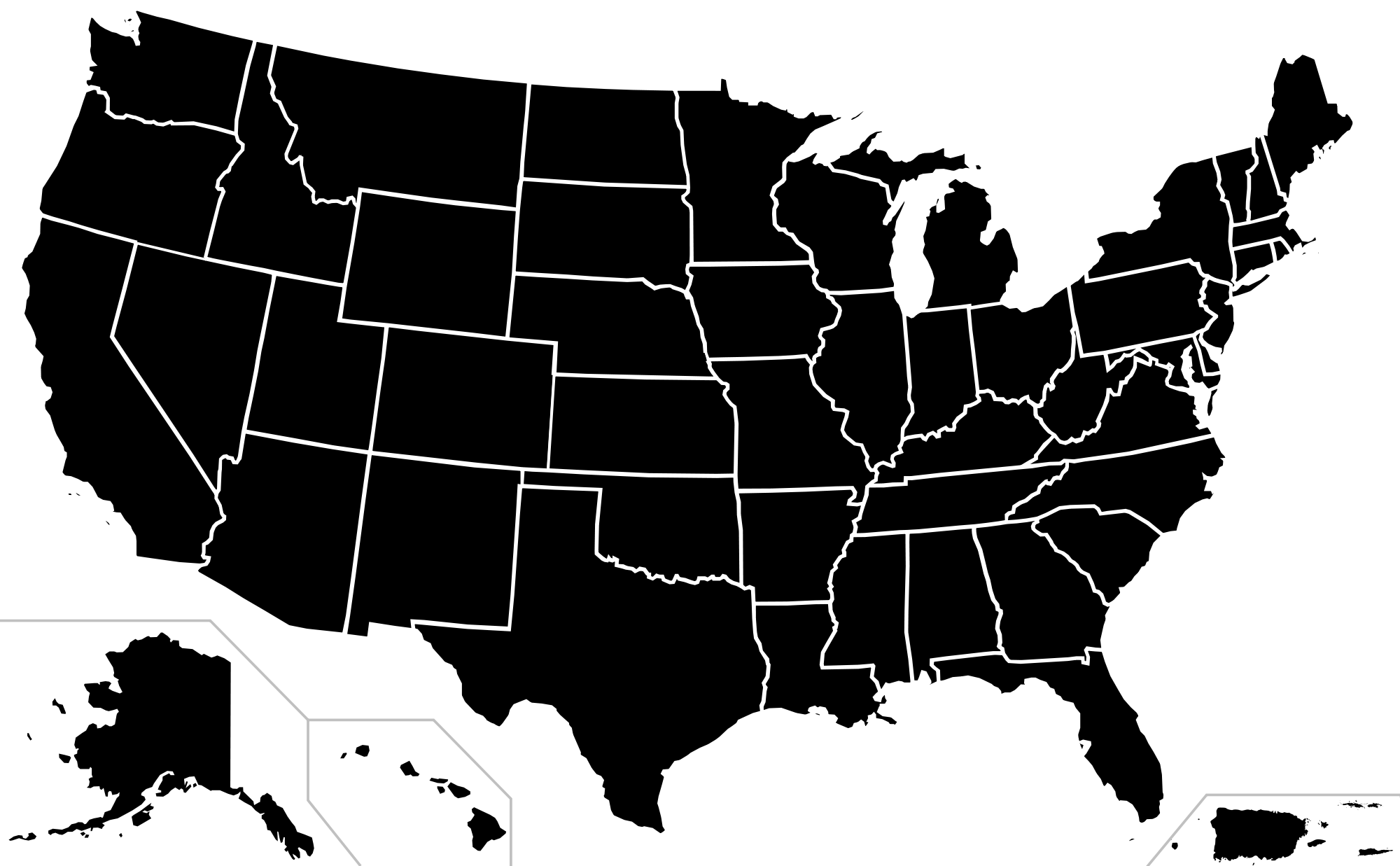 EDITORS NOTE A Step Back Before The Next Step Forward - Usa map black