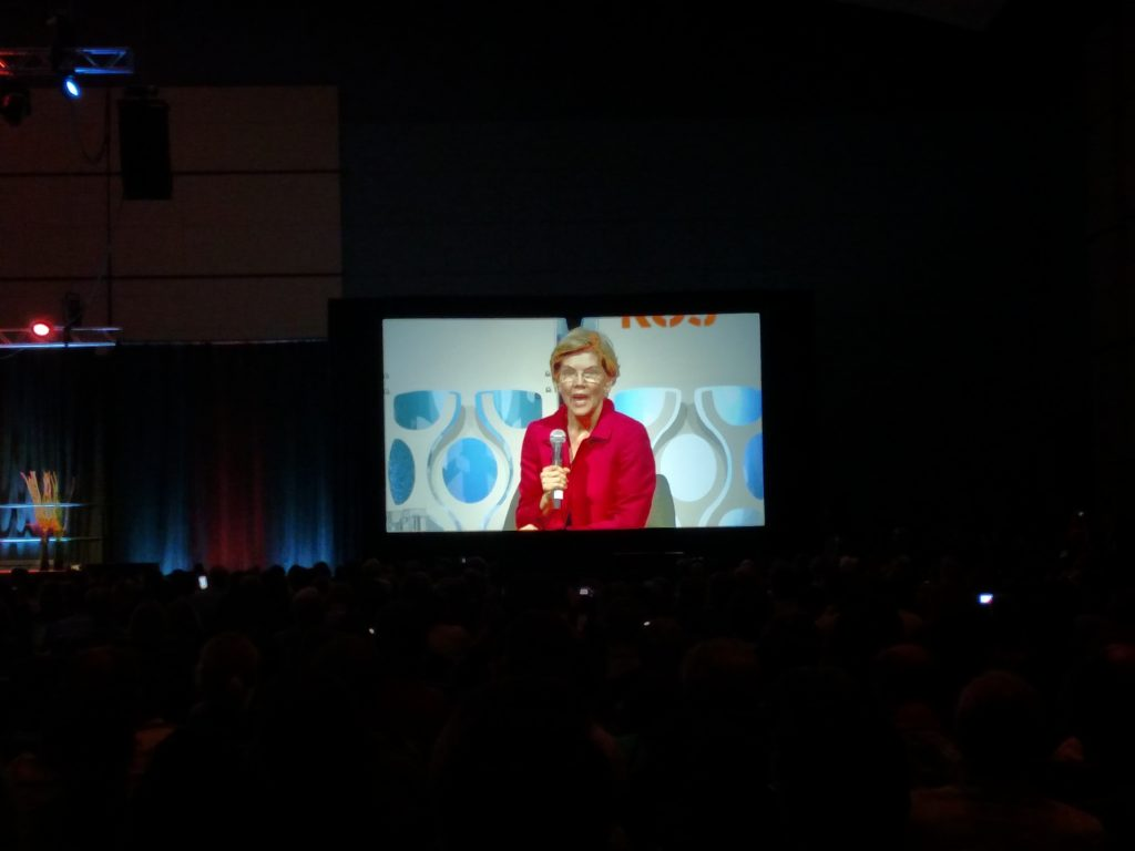 Warren at Netroots