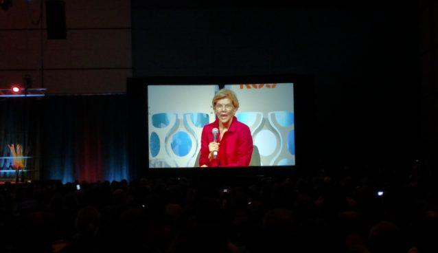 Warren at Netroots